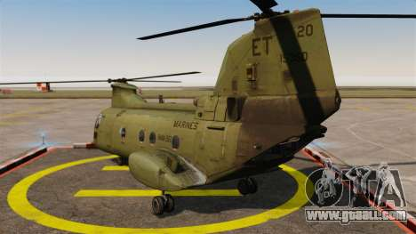 Boeing CH-46D Sea Knight for GTA 4 back left view