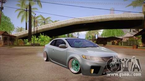 Kia Cerato for GTA San Andreas back view