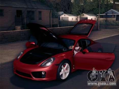 Porsche Cayman S 2014 for GTA San Andreas wheels