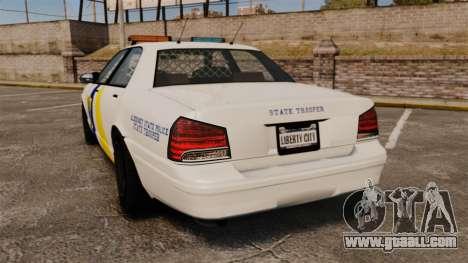 GTA V Police Vapid Cruiser Alderney state for GTA 4 back left view