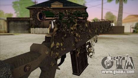 Sniper M-14 With Camouflage Grid for GTA San Andreas third screenshot