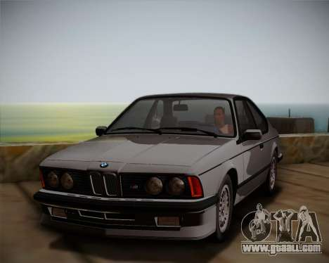BMW E24 M635 1984 for GTA San Andreas right view