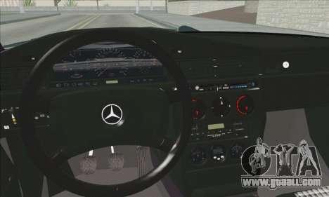 Mercedes-Benz 190E Evolution Police for GTA San Andreas back view