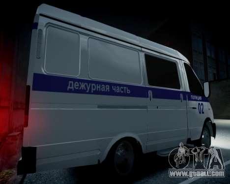 Gazelle 2705 Police for GTA 4 back view