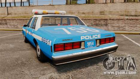 Chevrolet Caprice 1987 NYPD for GTA 4 back left view