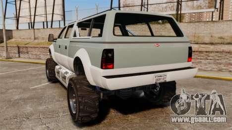 GTA V Vapid Sandking XL 4500 for GTA 4 back left view