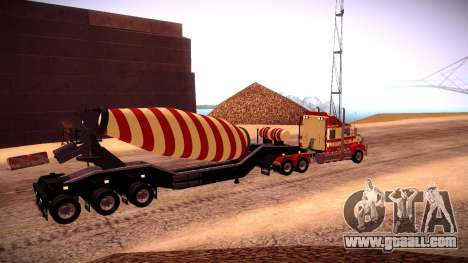Cement Mixer for GTA San Andreas back left view
