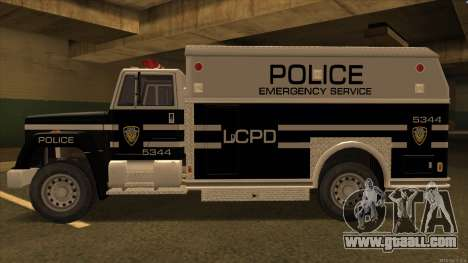 Enforcer HD from GTA 3 for GTA San Andreas back left view