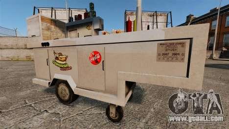 New textures of hot dog carts for GTA 4 forth screenshot