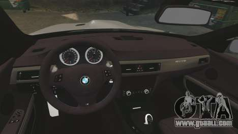 BMW M3 E92 GTS 2010 for GTA 4 inner view