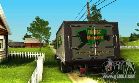 GMC Top Kick C4500 Dryvan House Movers 2008 for GTA San Andreas side view