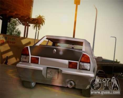 GTA III Kuruma for GTA San Andreas back view