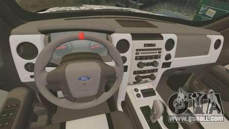 Ford F-150 SVT Raptor 2011 ArmyRat for GTA 4 inner view
