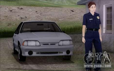 GTA 5 Police Woman for GTA San Andreas
