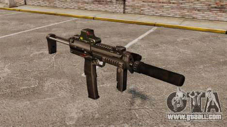 HK MP7 submachine gun Sopmod for GTA 4
