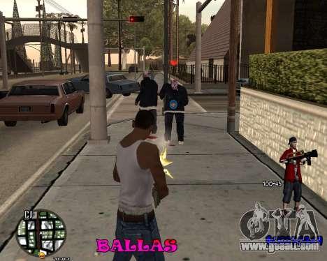 HUD The Ballas By Santiago for GTA San Andreas