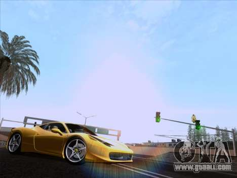 Ferrari 458 Italia 2010 for GTA San Andreas back left view