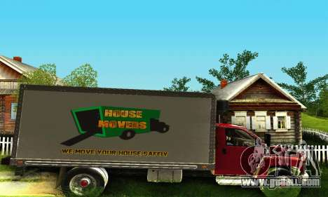 GMC Top Kick C4500 Dryvan House Movers 2008 for GTA San Andreas back view