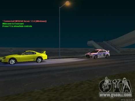 Mitsubishi Lancer X Police for GTA San Andreas side view