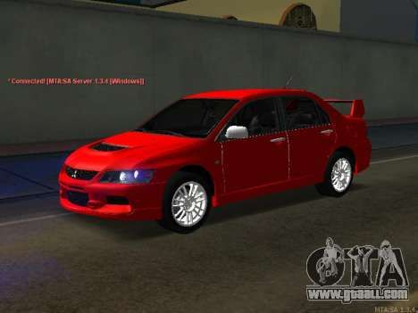 Mitsubishi Lancer Evo VIII for GTA San Andreas right view