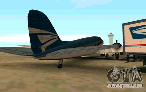 A United States aircraft for GTA San Andreas back left view