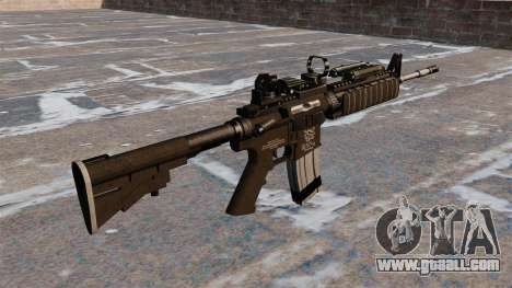 Automatic carbine M4 Red Dot Black Edition for GTA 4 second screenshot