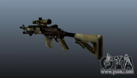Sniper rifle M21 Mk14 v7 for GTA 4 second screenshot