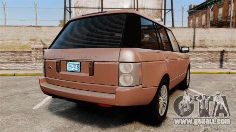 Range Rover TDV8 Vogue for GTA 4 back left view