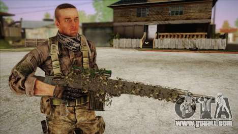 Sniper M-14 With Camouflage Grid for GTA San Andreas forth screenshot