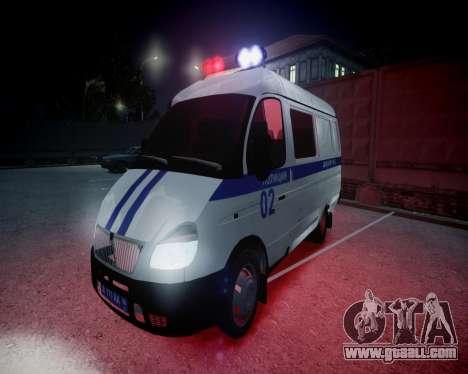Gazelle 2705 Police for GTA 4 upper view