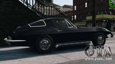 Chevrolet Corvette Stingray 427 1967 for GTA 4 left view