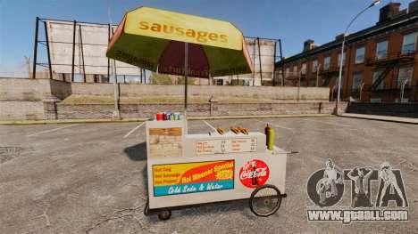 New textures of hot dog carts for GTA 4 fifth screenshot