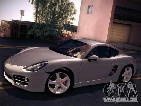 Porsche Cayman S 2014 for GTA San Andreas back left view