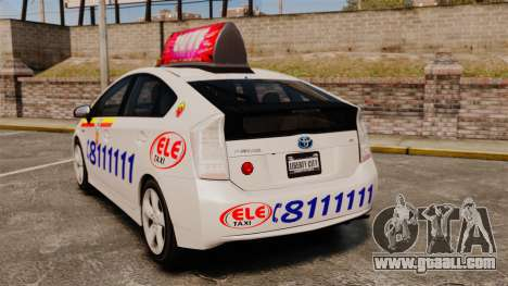 Toyota Prius 2011 Warsaw Taxi v3 for GTA 4 back left view