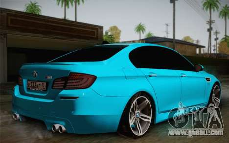 BMW M5 F10 v1 for GTA San Andreas left view