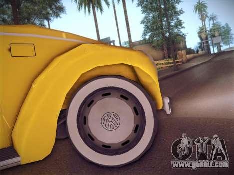 Volkswagen Käfer for GTA San Andreas inner view