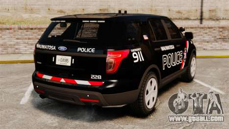 Ford Explorer 2013 Utility - Slicktop [ELS] for GTA 4 back left view