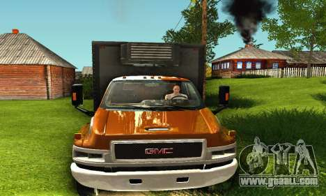 GMC Top Kick C4500 Dryvan House Movers 2008 for GTA San Andreas back left view