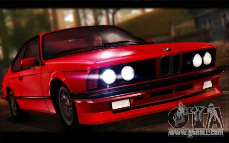 BMW E24 M635 1984 for GTA San Andreas