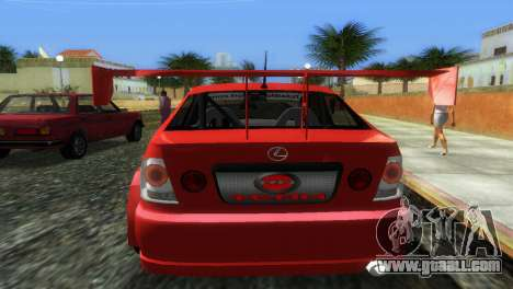 Lexus IS200 for GTA Vice City back left view