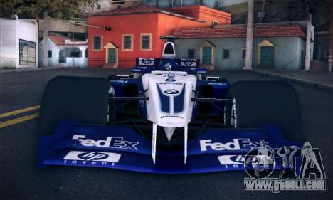 BMW Williams F1 for GTA San Andreas upper view