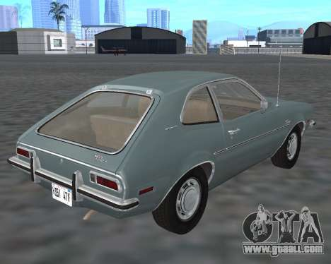 Ford Pinto 1973 for GTA San Andreas back view