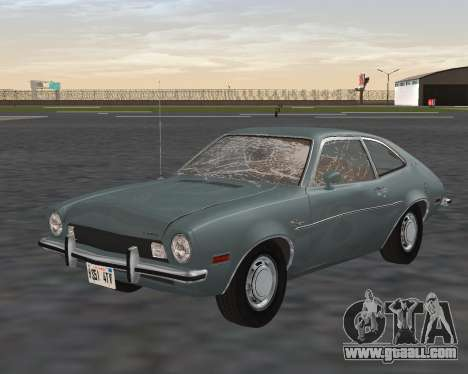 Ford Pinto 1973 for GTA San Andreas bottom view