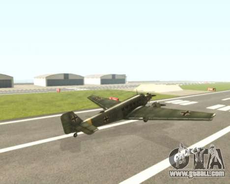 Junkers Ju-52 for GTA San Andreas right view