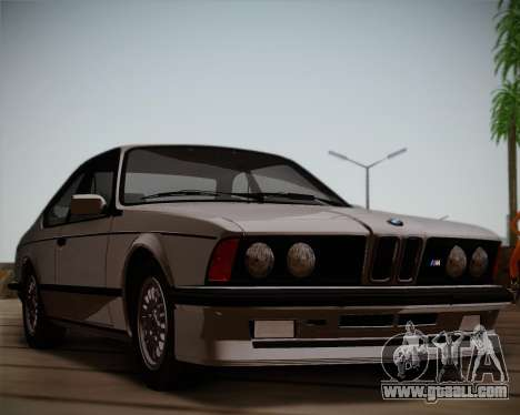 BMW E24 M635 1984 for GTA San Andreas left view