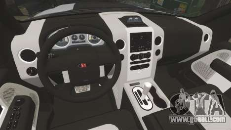 Saleen S331 Supercab 2008 for GTA 4 inner view