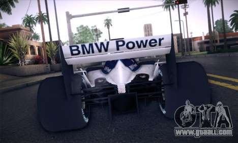 BMW Williams F1 for GTA San Andreas side view