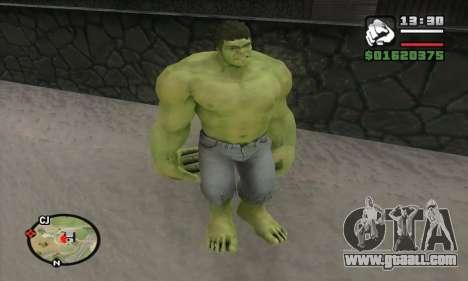 Hulk for GTA San Andreas forth screenshot