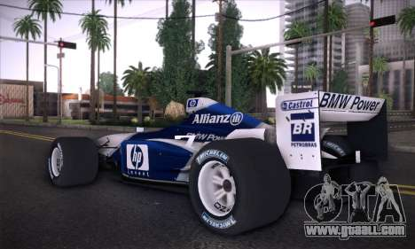 BMW Williams F1 for GTA San Andreas left view