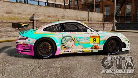 Porsche GT3 RSR 2008 Hatsune Miku for GTA 4 left view